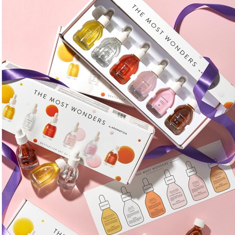 $39.99 ($144 value)The Most Wonders by Aromatica, 6-piece Set