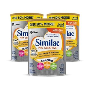 SimilacPro-Sensitive 非转基因敏感型婴儿奶粉,3罐