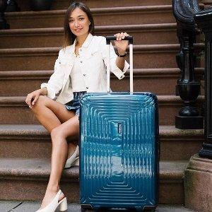 低至5折 超轻静音SAMSONITE 时尚宝石蓝万向轮行李箱