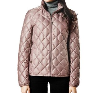 Amazon Women Packable Down Quilted Jacket Lightweight Puffer Coat
