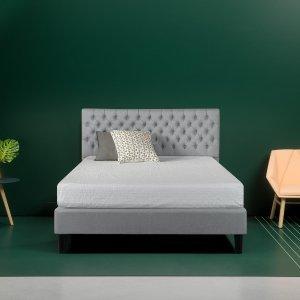 LaDerra Upholstered Grand Button Tufted Platform Bed Frame