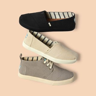 spend $65 Get $20 Off Next OrderTOMS Shoes Sale