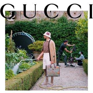 定价优势 GG腰带$332Gucci 时尚专场 收唐老鸭合作款双肩包、印花毛衣
