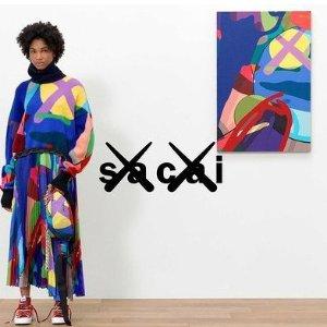 $85起 $280收T恤上新:Kaws x Sacai 联名系列发售 可穿戴的艺术