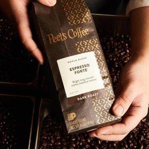 8折 蓝山咖啡豆1磅$14.36Peet's Coffee官网 咖啡限时优惠,Espresso Forte咖啡豆$13.56