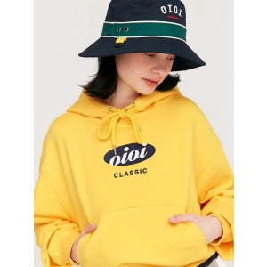 5252 by o!oICircle Logo Crop Hoodie Yellow