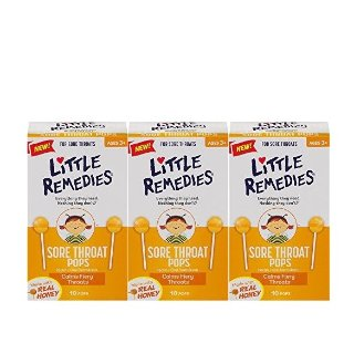$9.27Amazon Little Remedies Sore Throat Pops with Real Honey for Kids 3+