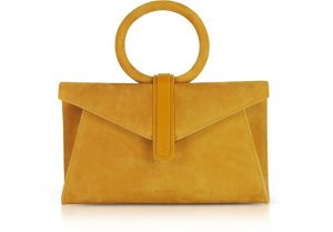 Complet Suede Valery Mini Clutch Bag w/Shoulder Strap