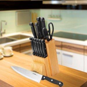 $31.04 (原价$34.49)LIVINGbasics 家用不锈钢厨刀超值14件套装