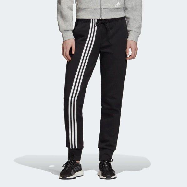黑色三道杠运动裤