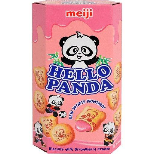 明治熊猫饼干草莓-小 2.1 OZ
