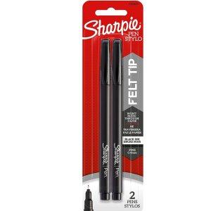 $4.67Sharpie 黑色中性笔0.8mm 2个装 凑单佳选