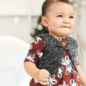 清仓区额外7折即将截止:Carter's 清仓区童装折上折特卖,婴儿3件套$5.59,连体衣2件$6.99