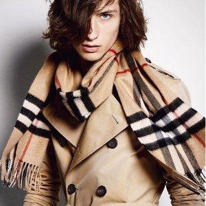 变相7.5折 $450收羊绒围巾最后一天:Burberry 英伦经典格子羊绒围巾特卖