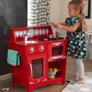 $39.99(原价$67.87)限今天:Kidkraft 经典木质小厨房 红色