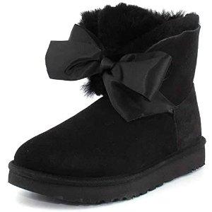 UGG5码蝴蝶结雪地靴