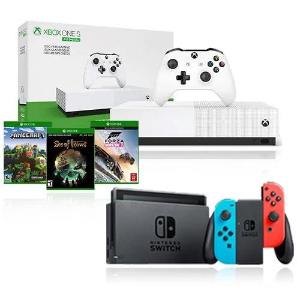 $399.6Nintendo Switch 红蓝 + Xbox One S 1TB + 3游戏