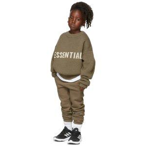 Essentials巧克力色编织卫衣