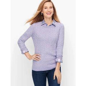 Talbots香芋紫毛衣
