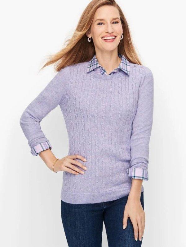 香芋紫毛衣