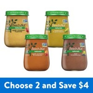 Buy Two and Save $4Beech-Nut Natural Stage 2 Baby Food Jars