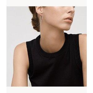 SkagenKariana Silver-Tone Wire Earrings