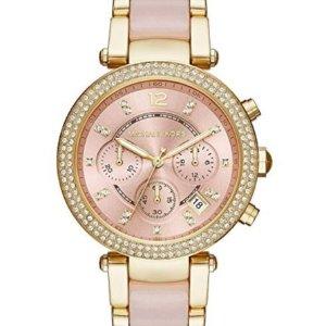 $108.49 +包邮史低价:Michael Kors Parker 系列粉金水晶时装女表