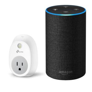 $49.95 (原价$153.95)Amazon Echo 2代智能音箱 + TP-Link HS100 智能插座