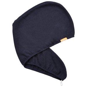 Aquis单色奢华版干发帽   暴风雨蓝