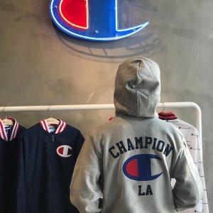 专场7.5折 经典Logo短袖€31起The Hut精选品牌专场 快来收Champion卫衣、短袖