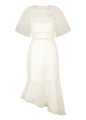 KEEPSAKE Awaken ivory embroidered organza dress - Harvey Nichols