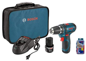 Today Only: $99Bosch PS31-2A 12V Max Lithium-Ion 3/8-Inch 2-Speed Drill/Driver Kit with TI14 Titanium Metal Drill Bit Set @ Amazon.com