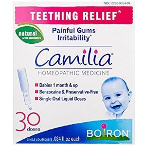 $7Boiron Camilia, Baby Teething Relief, 30 Doses. Teething Drops for Painful Gums, Natural Active Ingredient @ Amazon