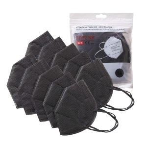 定价优势 仅€1.7每只!黑色系!FFP2 口罩10只装 个人防护必备!复工当前 做好万全准备