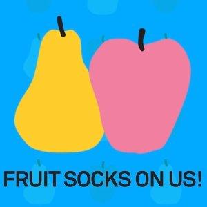 买4双送1双水果袜Happy Socks官网 水果袜子热卖
