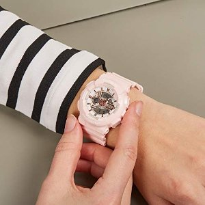 Casio运动手表 Analog-Digital Quarz Uhr mit Harz Armband BA-110RG-4AER
