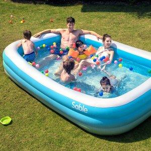 """史低价:Sable 大型家庭用充气泳池 92"""" x 56"""" x 20"""""""