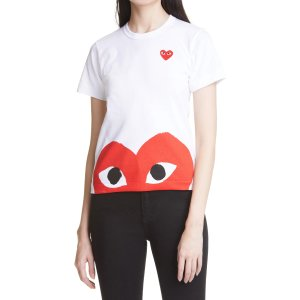 Comme des Garcons PlayGet $20 Notes,Spend$150 Get $30 NotesPeek Heart Graphic Tee