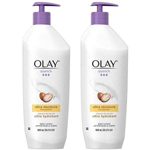 Olay Quench Body Lotion Ultra Moisture with Shea Butter and Vitamins E and B3, 20.2 oz(Pack of 2)