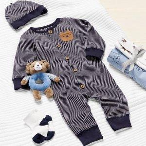 7折 封面套装$15Carters 宝宝套装大促 免去搭配的烦恼 小熊背心3件套$18