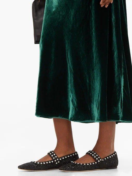 Minette亮片平底鞋