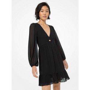 Michael KorsRing-Detailed Georgette Dress