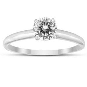 $167独家:Szul 精选1/3克拉14K白金钻石戒指热卖