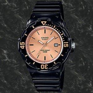 8.5折 $28.59(原价$33.61)Casio LRW-200H-9E2VCF 女款不锈钢表带石英时尚腕表
