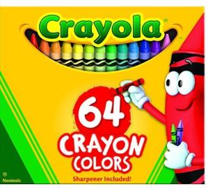 白菜价!$3.47(原价$13.49)Crayola 64色彩色蜡笔