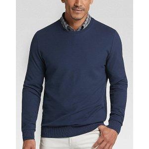 Joseph AbboudNavy Crew Neck Knit Shirt