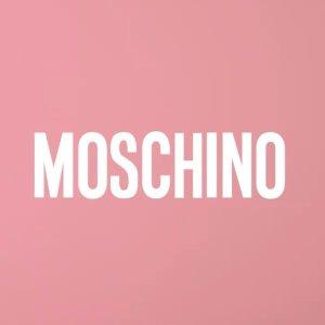 无门槛8折独家:Moschino 上新大促 Logo宽松T恤$176,粉色链条包$544