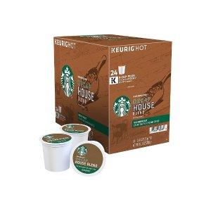StarbucksHouse Blend Decaf Coffee, Keurig® K-Cup® Pods, Medium Roast, 24/Box (736088)
