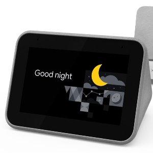 $69.99(原价$119.99)联想 Smart Clock 智能闹钟 内置Google助手 不再忘记上闹表