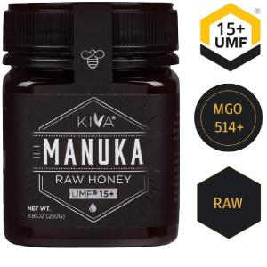 现价$33.8 (原价$39.99)闪购:Kiva 新西兰天然麦卢卡蜂蜜 8.8oz UMF 15+ (MGO 514+)